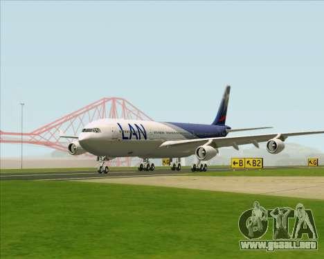 Airbus A340-313 LAN Airlines para visión interna GTA San Andreas