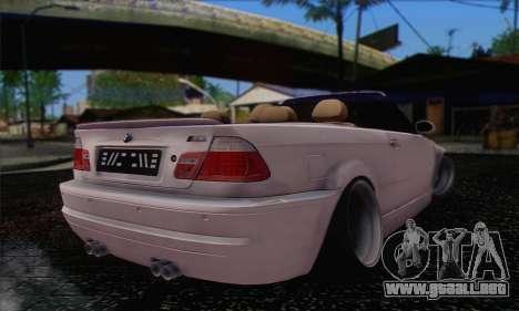 BMW M3 Cabrio para GTA San Andreas left
