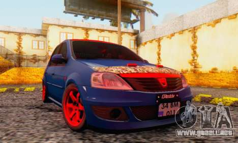 Dacia Logan Turkey Tuning para vista lateral GTA San Andreas