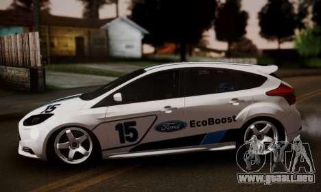 Ford Focus ST Eco Boost para GTA San Andreas vista posterior izquierda