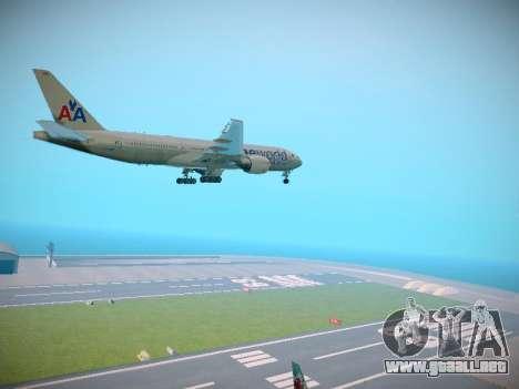 Boeing 777-223ER American Silver Bullet para la visión correcta GTA San Andreas
