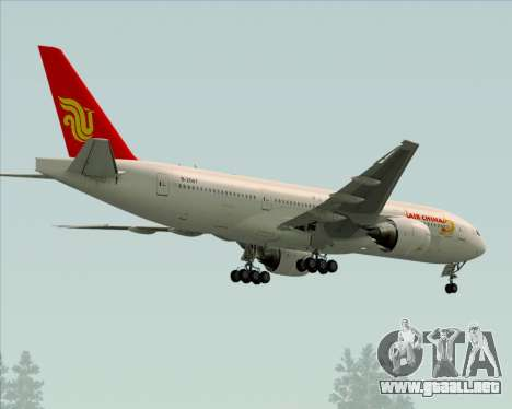 Boeing 777-200ER Air China para GTA San Andreas vista hacia atrás