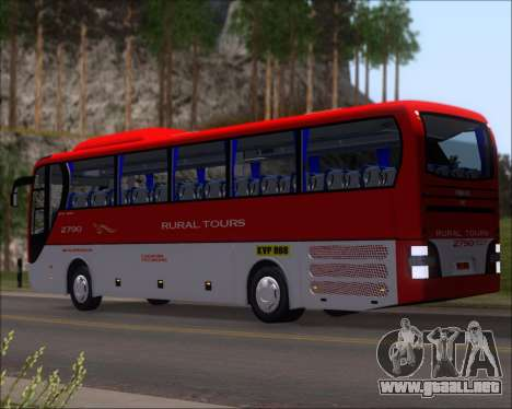 MAN Lion Coach Rural Tours 2790 para GTA San Andreas vista posterior izquierda