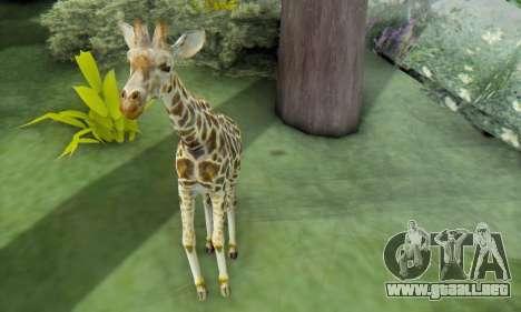 Giraffe (Mammal) para GTA San Andreas sucesivamente de pantalla