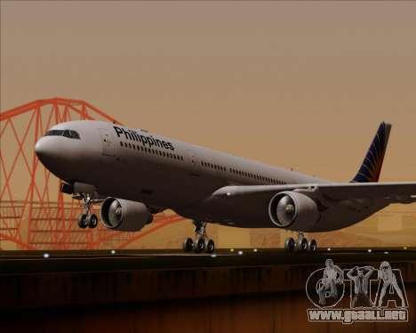 Airbus A330-300 Philippine Airlines para GTA San Andreas vista hacia atrás