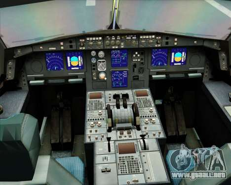 Airbus A330-300 Gulf Air para vista lateral GTA San Andreas