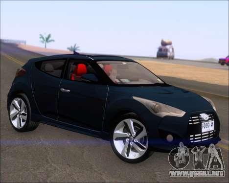 Hyundai Veloster 2013 para GTA San Andreas vista posterior izquierda