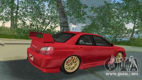 Subaru Impreza WRX 2002 Type 6 para GTA Vice City visión correcta