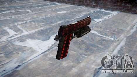 Pistola de Kimber 1911 Arte de la Guerra para GTA 4 segundos de pantalla