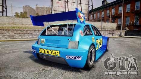 Zenden Cup Kicker para GTA 4 Vista posterior izquierda