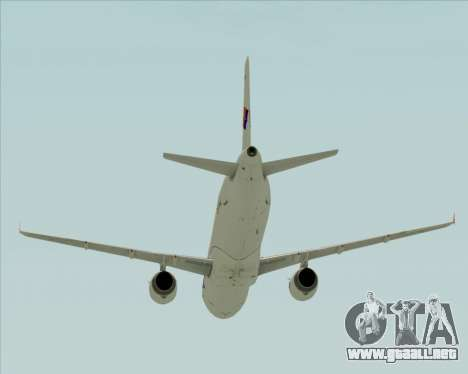 Airbus A321-231 Spanair para la vista superior GTA San Andreas