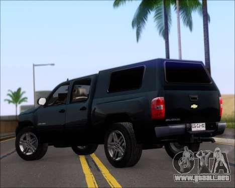 Chevrolet Silverado 2011 para GTA San Andreas vista posterior izquierda