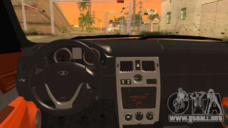 Instalado 2170 Priora De Naranja para GTA San Andreas vista posterior izquierda