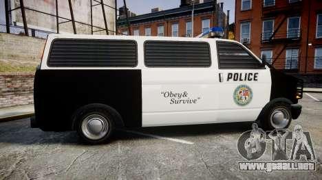 Declasse Burrito Police Transporter ROTORS [ELS] para GTA 4 left