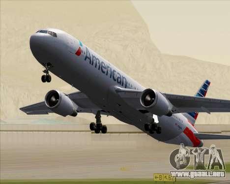 Boeing 767-323ER American Airlines para vista inferior GTA San Andreas