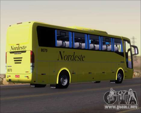 Busscar Elegance 360 Viacao Nordeste 8070 para la visión correcta GTA San Andreas