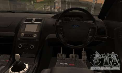 Ford Falcon XR8 para GTA San Andreas vista posterior izquierda