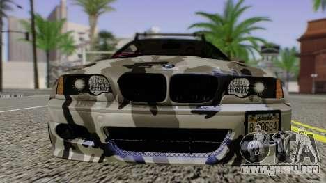 BMW M3 E46 Coupe 2005 Hellaflush v2.0 para GTA San Andreas vista hacia atrás