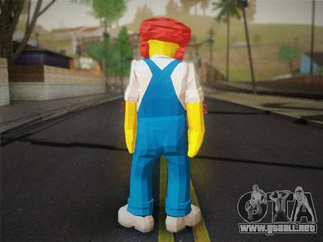 El Jardinero Willy De Los Simpsons: Road Rage) para GTA San Andreas segunda pantalla
