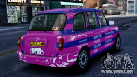 London Taxi Cab v1 para GTA 4 left
