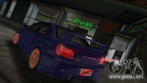 Subaru Impreza WRX 2002 Type 2 para GTA Vice City visión correcta