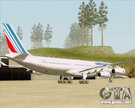 Airbus A340-313 Air France (New Livery) para GTA San Andreas vista posterior izquierda