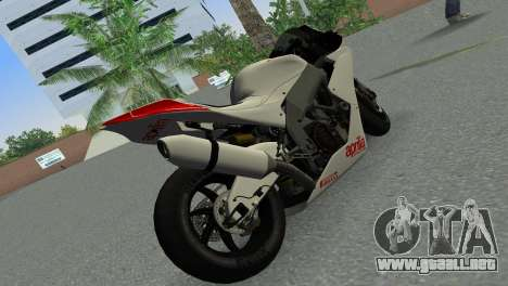 Aprilia RSV4 2009 Gray Edition para GTA Vice City vista lateral izquierdo