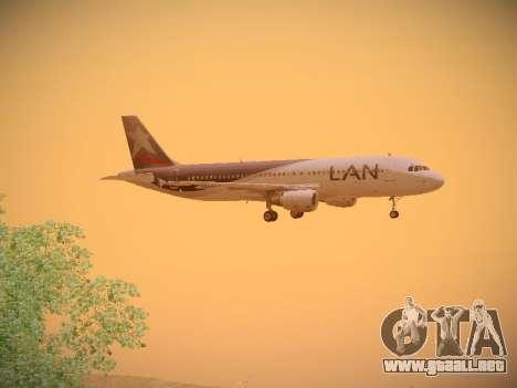 Airbus A320-214 LAN Airlines para GTA San Andreas vista hacia atrás