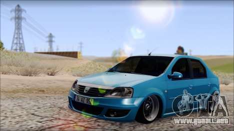 Dacia Logan BS GARAGE para GTA San Andreas