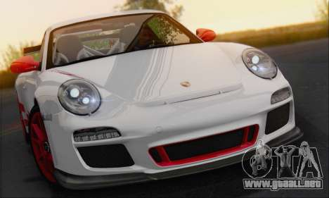 Porsche 911 GT3 2010 para GTA San Andreas vista hacia atrás