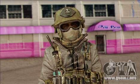 Task Force 141 (CoD: MW 2) Skin 7 para GTA San Andreas tercera pantalla