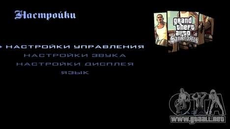 HD la pantalla de carga y menú para GTA San Andreas décimo de pantalla