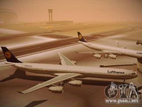 Airbus A340-600 Lufthansa para visión interna GTA San Andreas