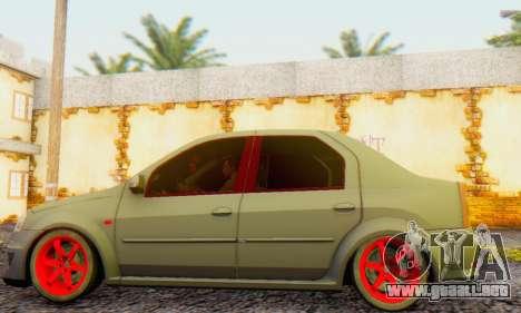 Dacia Logan Turkey Tuning para GTA San Andreas vista posterior izquierda