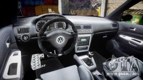 Volkswagen Golf Mk4 R32 Wheel2 para GTA 4 vista hacia atrás