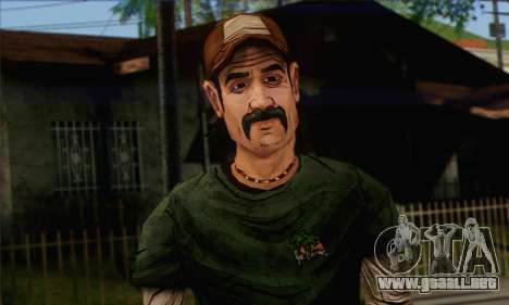 Kenny from The Walking Dead v1 para GTA San Andreas tercera pantalla