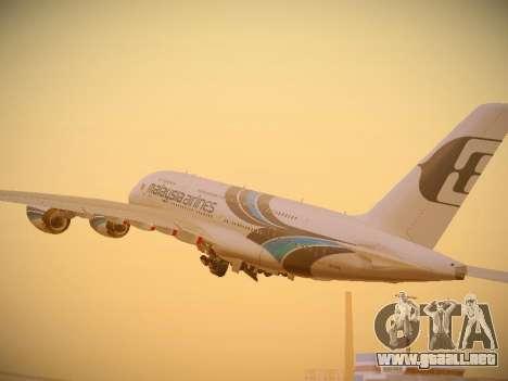 Airbus A380-800 Malaysia Airlines para la visión correcta GTA San Andreas