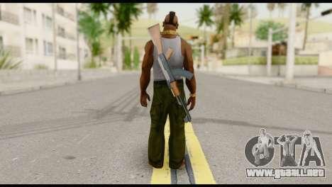MR T Skin v8 para GTA San Andreas segunda pantalla