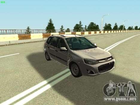 Lada Kalina 2 Wagon para la visión correcta GTA San Andreas
