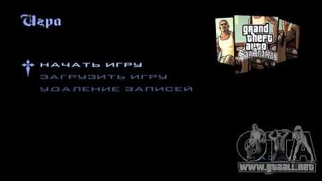 HD la pantalla de carga y menú para GTA San Andreas octavo de pantalla