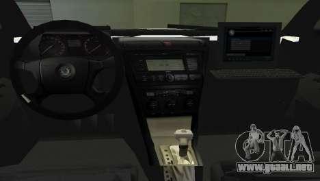 Skoda Octavia Albanian Police Car para GTA Vice City visión correcta