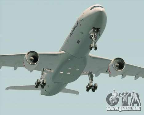 Airbus A330-300 Dragonair para vista inferior GTA San Andreas