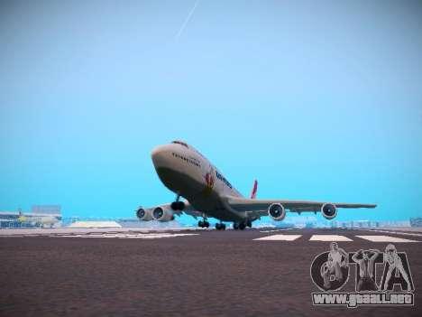 Boeing 747-438 Qantas Boxing Kangaroo para vista inferior GTA San Andreas