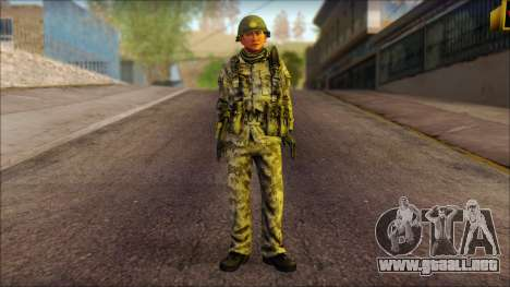Corea del Norte soldado (Guerrero) para GTA San Andreas
