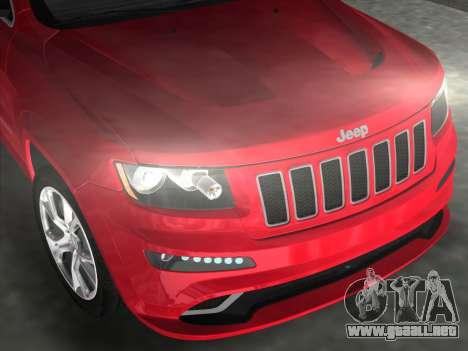 Jeep Grand Cherokee SRT-8 (WK2) 2012 para GTA Vice City visión correcta