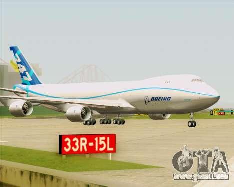 Boeing 747-8 Cargo House Livery para la vista superior GTA San Andreas