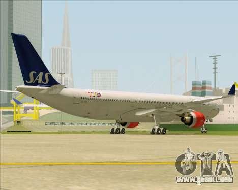 Airbus A330-300 Scandinavian Airlines System. para la visión correcta GTA San Andreas