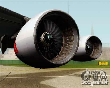Airbus A380-841 Qantas para vista lateral GTA San Andreas