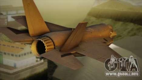 Lockheed Martin F-35A para GTA San Andreas left