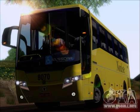 Busscar Elegance 360 Viacao Nordeste 8070 para GTA San Andreas vista hacia atrás